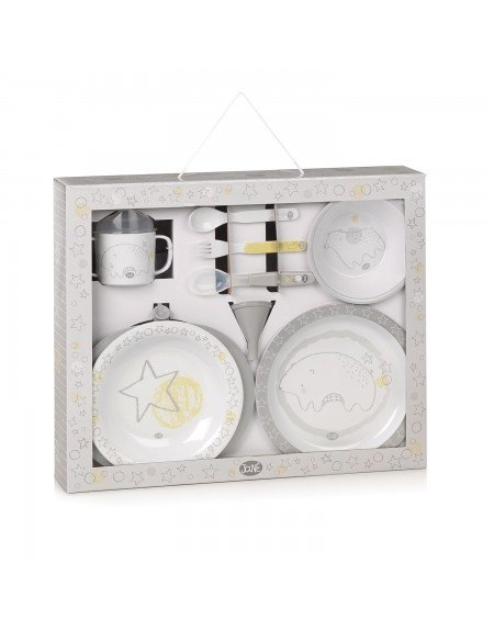 Crockery set with thermal dish Busy Bears